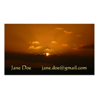 Sun Behind Clouds Orange Seascape Pack Of Standard Business Cards