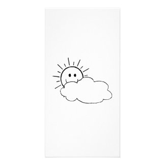 Sun Behind the Clouds Photo Card Template