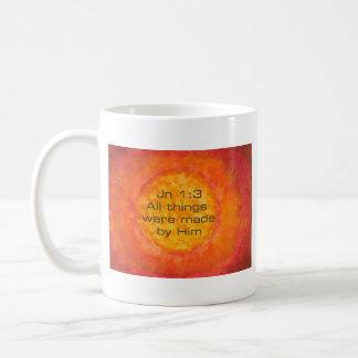 Sun bible verse Christian Creation Jn 1:3 Jesus Coffee Mug