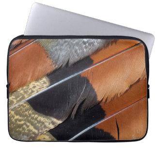 Sun Bittern feather detail Laptop Sleeve