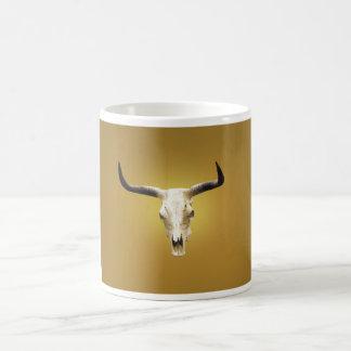 sun bleached steer skull mug