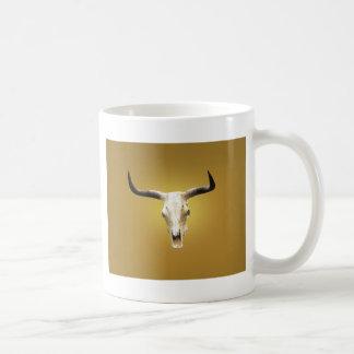 sun bleached steer skull coffee mug