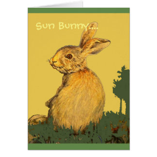 Sun Bunny Card