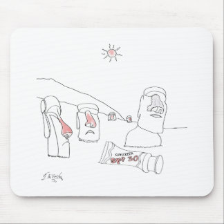 Sun Burn Cartoon 9354 Mouse Pad