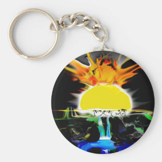 Sun Burn Key Ring