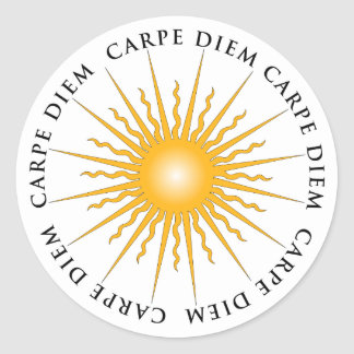 Sun Carpe Diem Book Plate Sticker