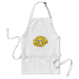 Sun Cartoon Mascot Standard Apron