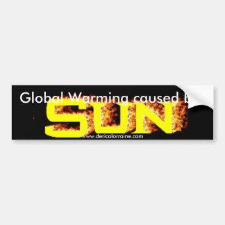 Sun Causes Global Warming Bumper Sticker