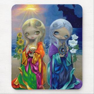 """Sun Child and Moon Child"" Mousepad"