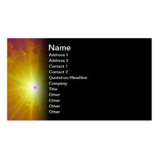 Sun Child Fractal Art Business Card Templates