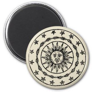 Sun Circle 6 Cm Round Magnet