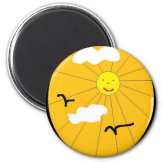 SUN CLOUDS REFRIGERATOR MAGNETS