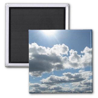 Sun Clouds Square Magnet