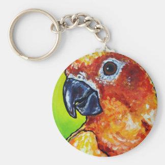 Sun Conure Basic Round Button Key Ring