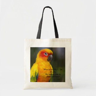 Sun Conure Parrot (with text) Bag