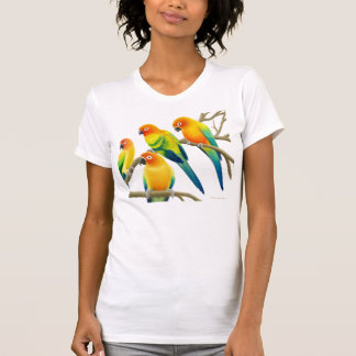 Sun Conure Parrots Ladies Jersey Knit Shirt