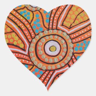 Sun Corroboree Heart Sticker