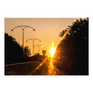 Sun decline in Borlänge Photo Print