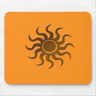 Sun design mouse pad