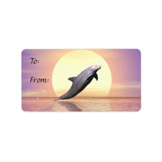Sun Dolphin Gift Tag Address Label