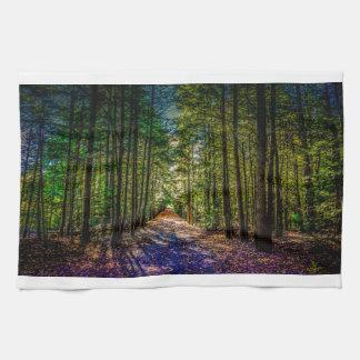 Sun Down Woods Tea Towels