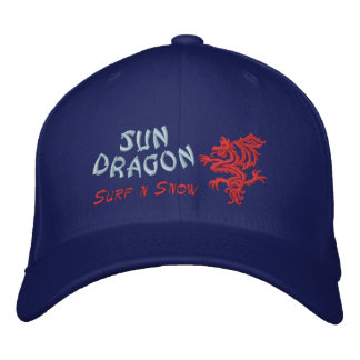 Sun Dragon  Surf and Snow Embroidered Hats