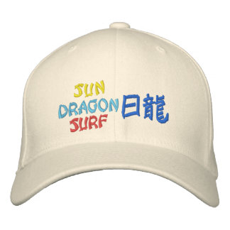 Sun Dragon Surf Embroidered Baseball Cap