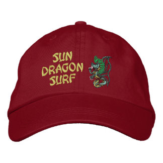 Sun Dragon Surf Embroidered Hat