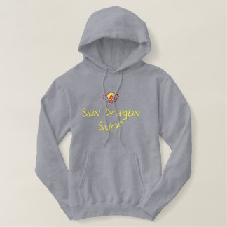 Sun Dragon Surf Embroidered Hoodie