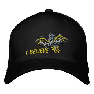 sun dragon yellow sun embroidered hat