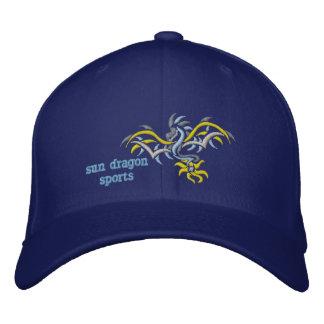 sun dragon yellow sun embroidered hats
