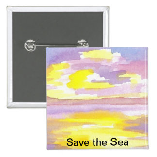 Sun Drama Save the Sea CricketDiane Ocean Products Buttons