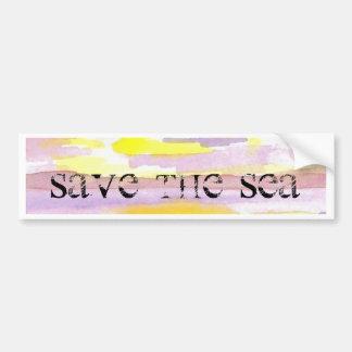 Sun Drama Save the Sea CricketDiane Ocean Products Bumper Stickers