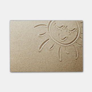 Sun Drawn In The Sand Post-it Notes