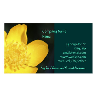Sun Drenched Buttercup business card templates