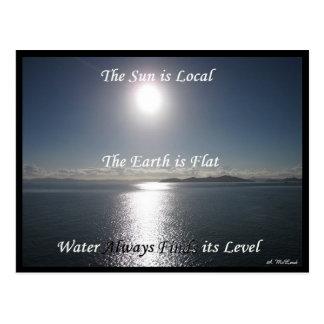 Sun Earth Water Postcard - FLat Earth Meme