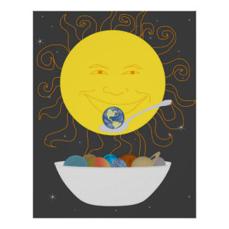 Sun Eating a Bowl of Planets Print