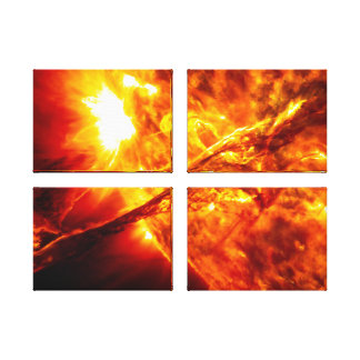 Sun Eruption - Giant Prominence Stretched Canvas Print