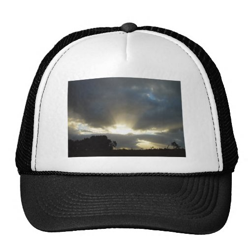 Sun Exploding Through Clouds On Wahroona At Wester Trucker Hat