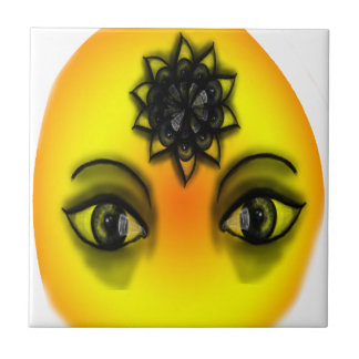 Sun eyes small square tile