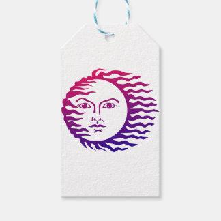 Sun Face Gift Tags
