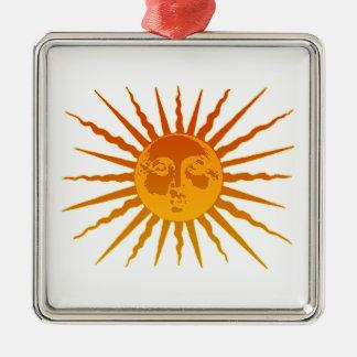 Sun Face Icon Christmas Tree Ornaments