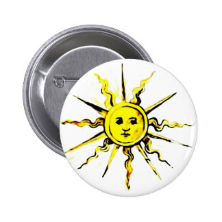 sun face - lost book of nostradamus 6 cm round badge