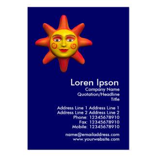 Sun Face Mini Photo Business Cards
