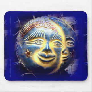 sun face/moon face mousepad