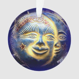 sun face/ moon face ornament