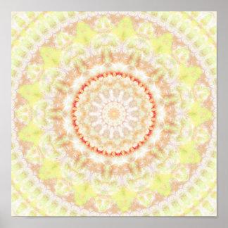 Sun Fire Mandala kaleidoscope Poster