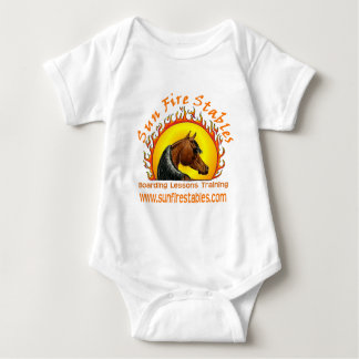 Sun Fire Stables Logo on Front Baby Bodysuit