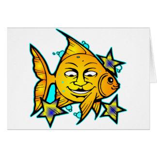 Sun Fish & Stars Tattoo Cards