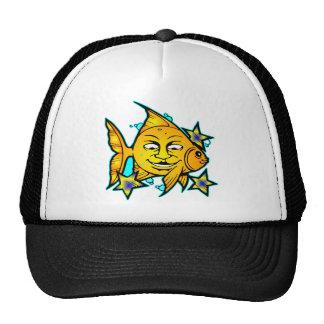 Sun Fish & Stars Tattoo Hats